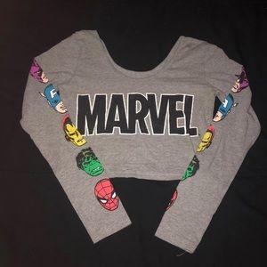 Marvel cropped long sleeve